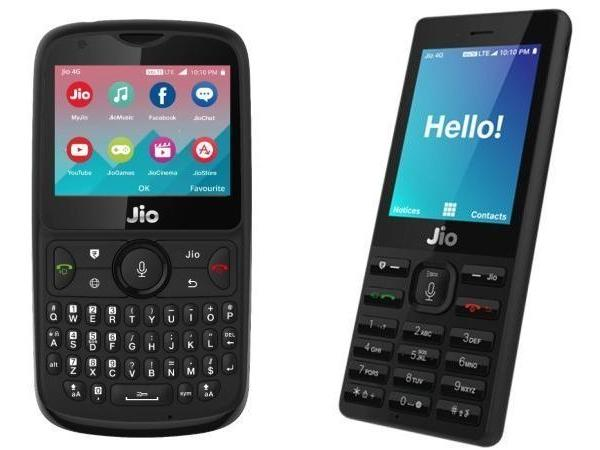 Jio Phone 1 and 2 (Right To Left)