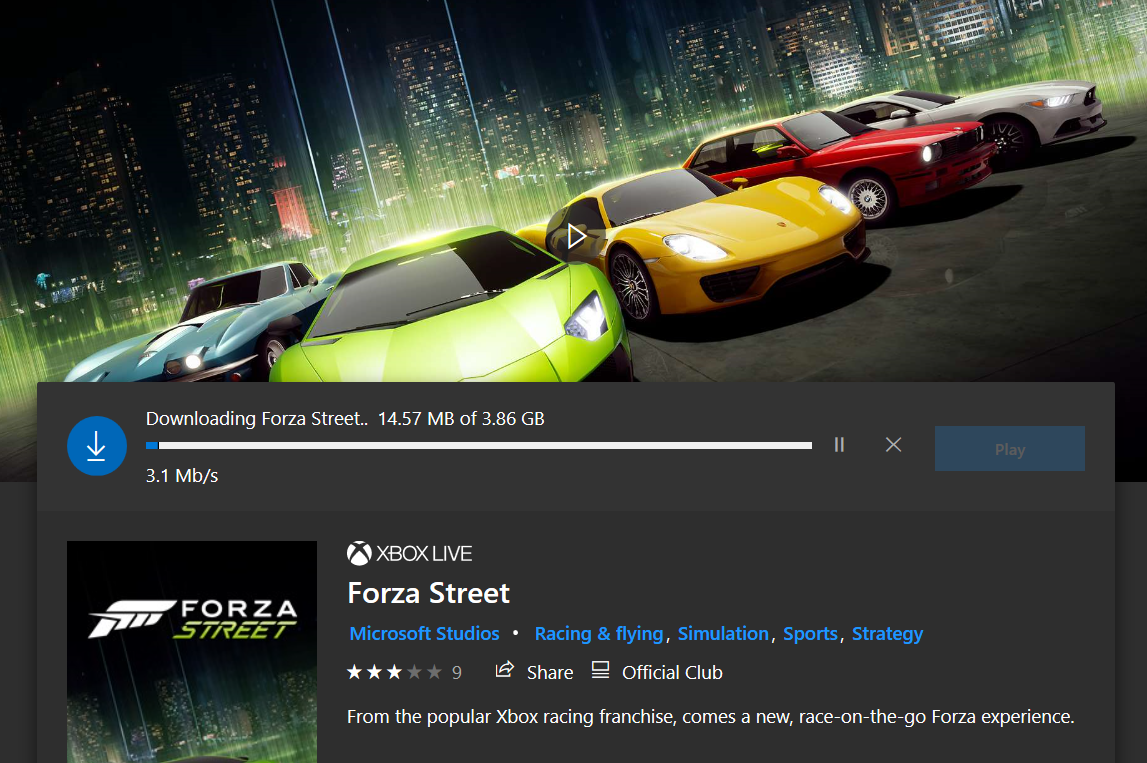 Forza Street now available on Windows 10