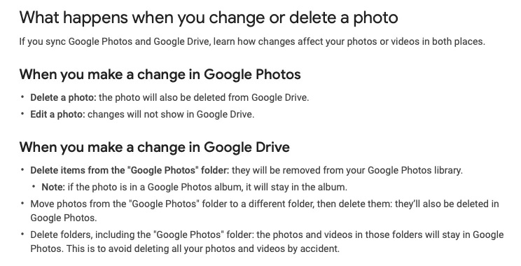 Google Drive and Photos integration right now